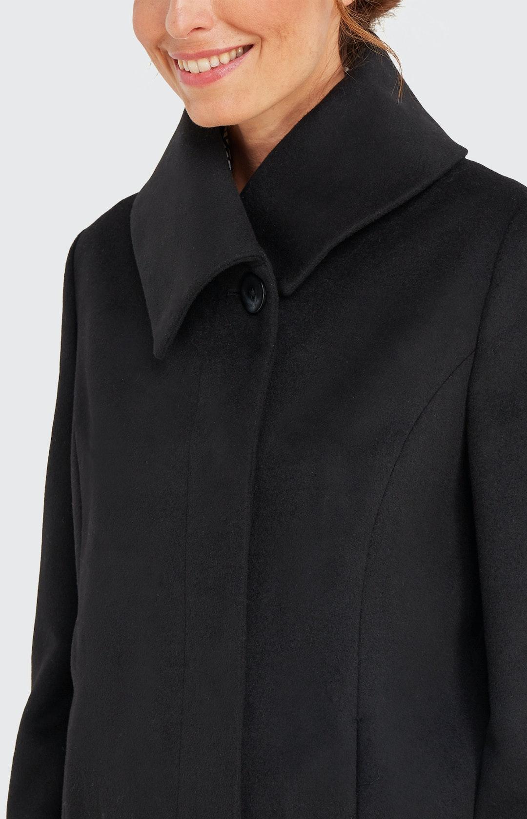 Wollmantel in Schwarz