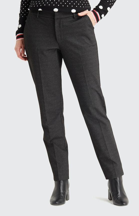 Hose mit Allover-Muster in Schwarz-Weiß