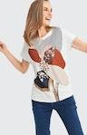 T-Shirt mit Motiv-Print in Weiß