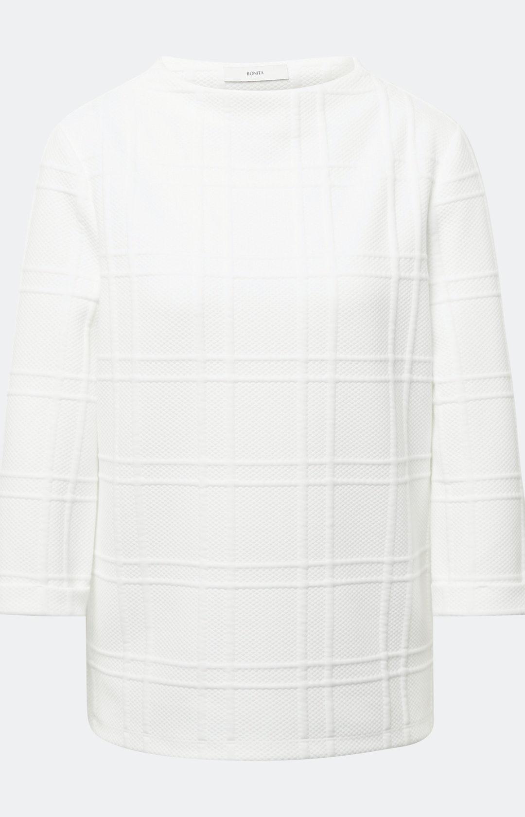 Sweatshirt mit Stehkragen in Weiß