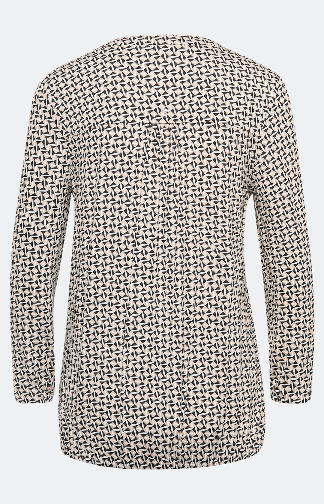Shirt mit Allover-Muster in Beige