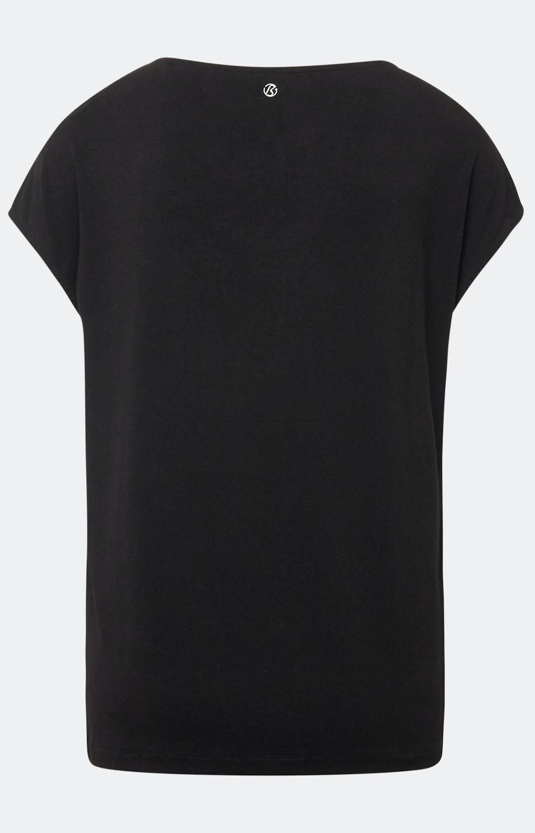 T-Shirt mit Allover-Muster in Schwarz