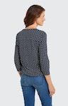 Shirt mit Allover-Muster in Blau