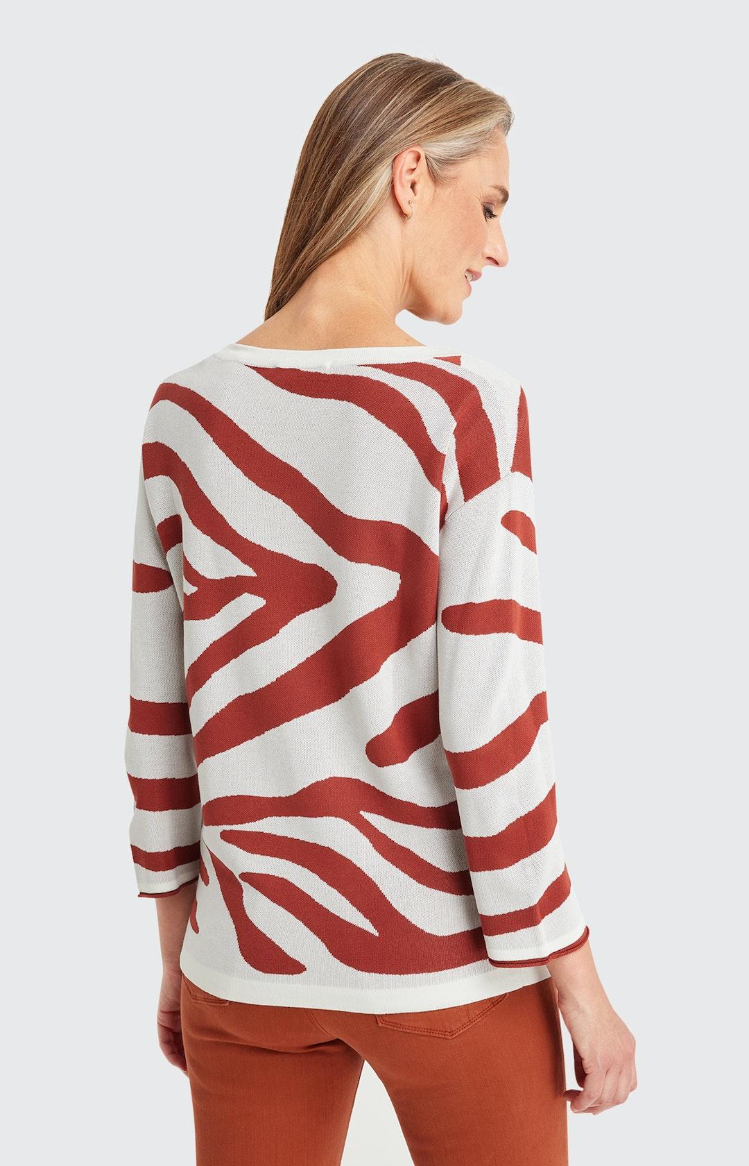 Sweatshirt mit Animal-Print in Weiß