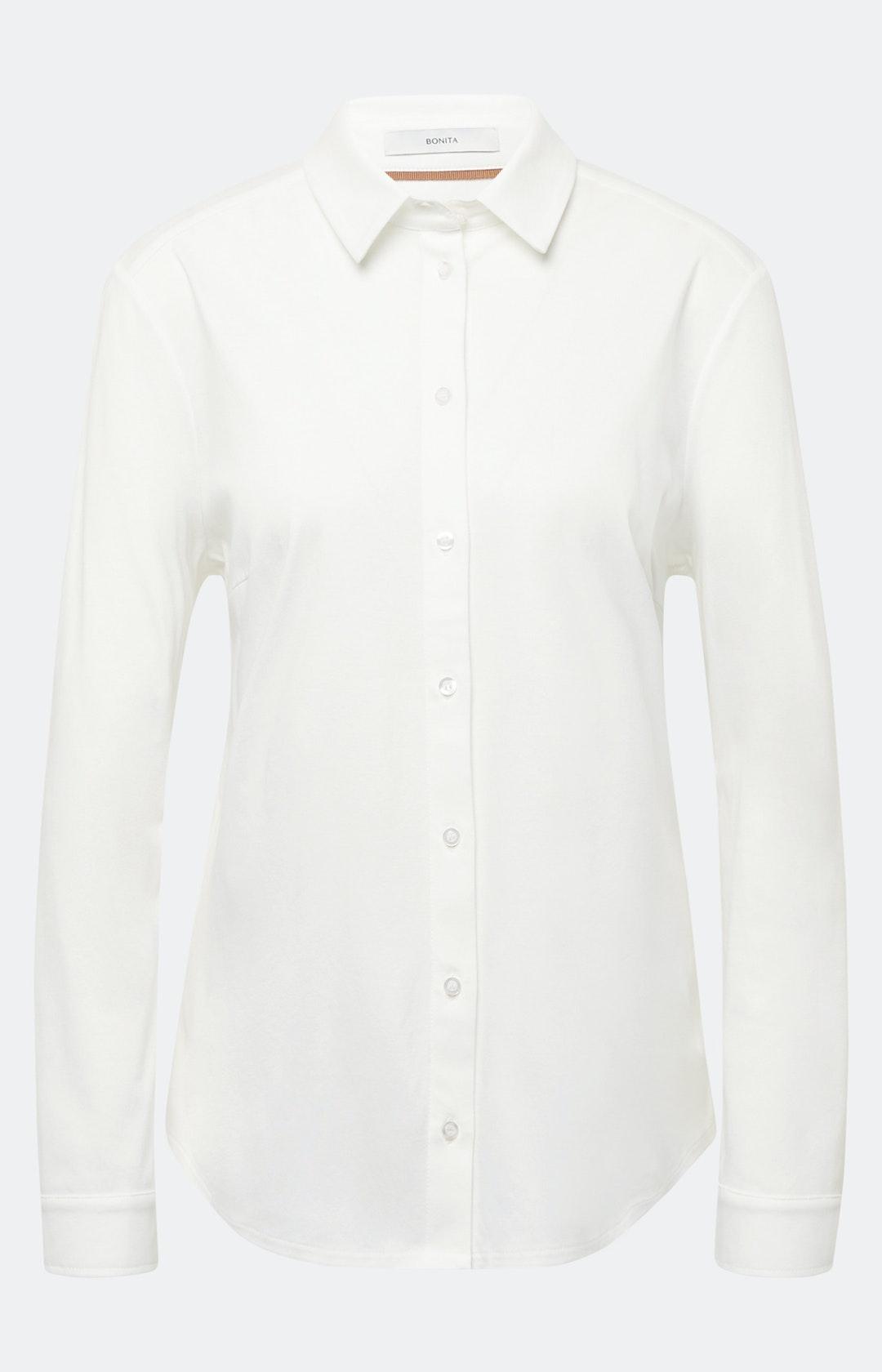 Bluse mit Knopfleiste in Weiß