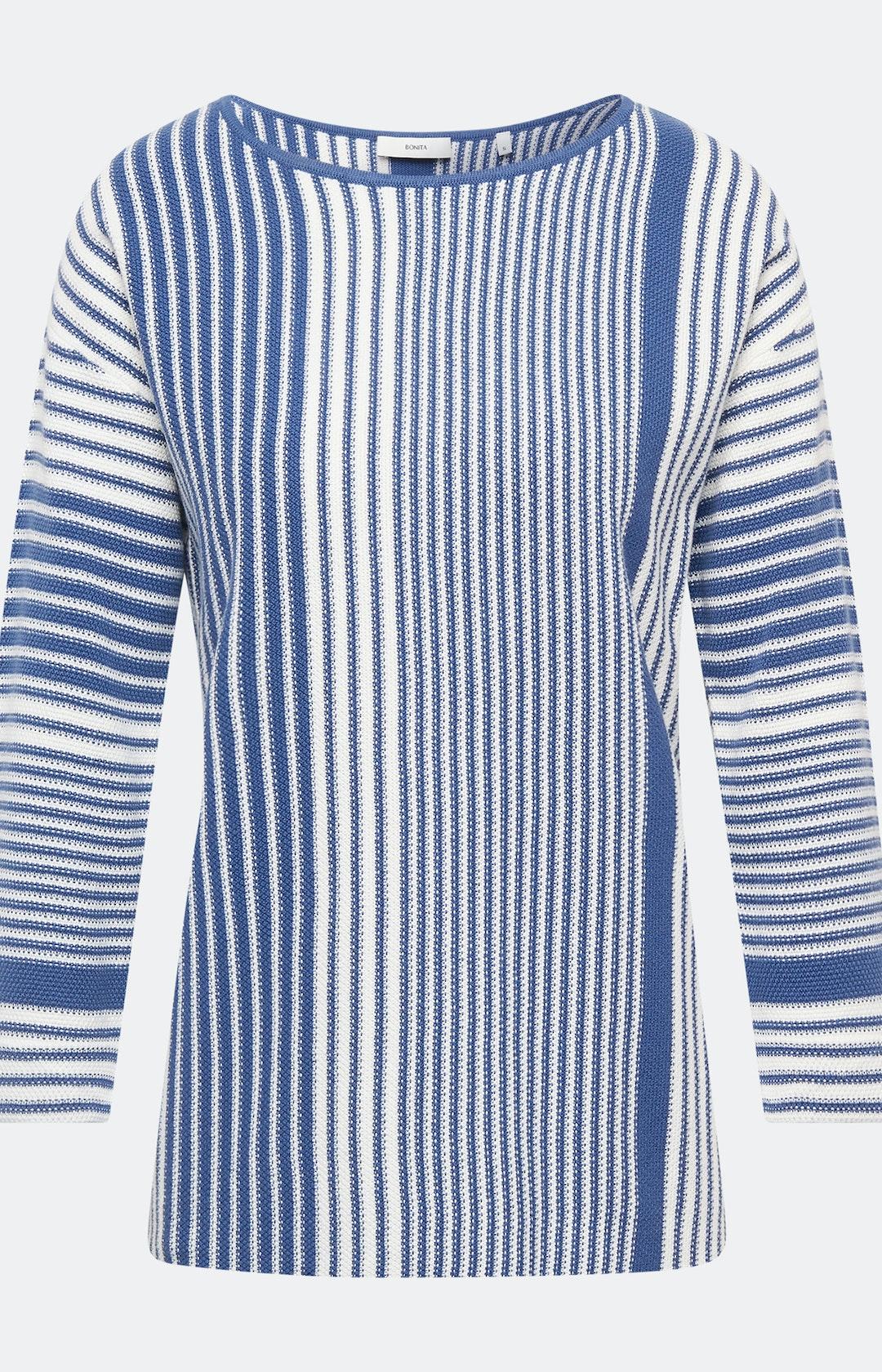Pullover mit Strickmuster in Blau