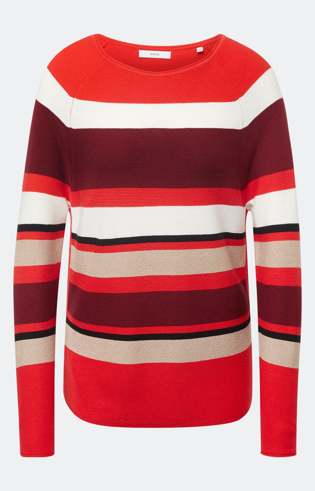 Pullover mit Streifenmuster in Rot