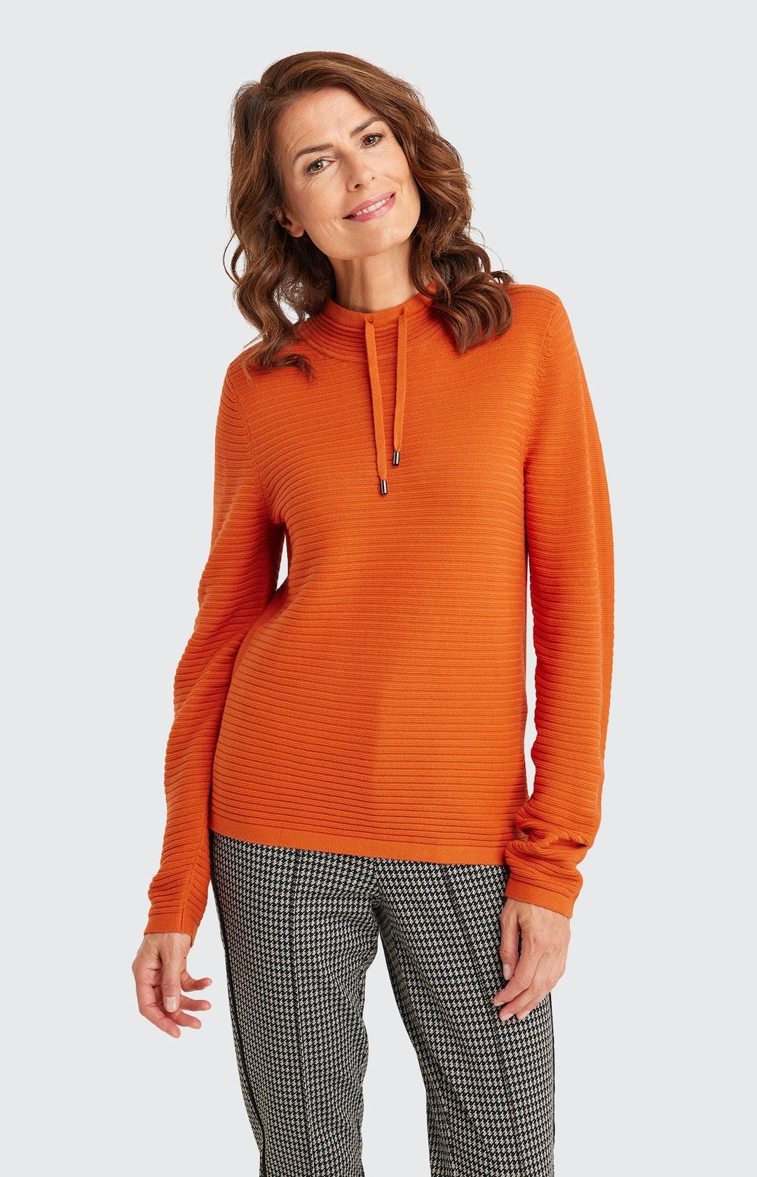 Pullover mit Streifenmuster in Orange