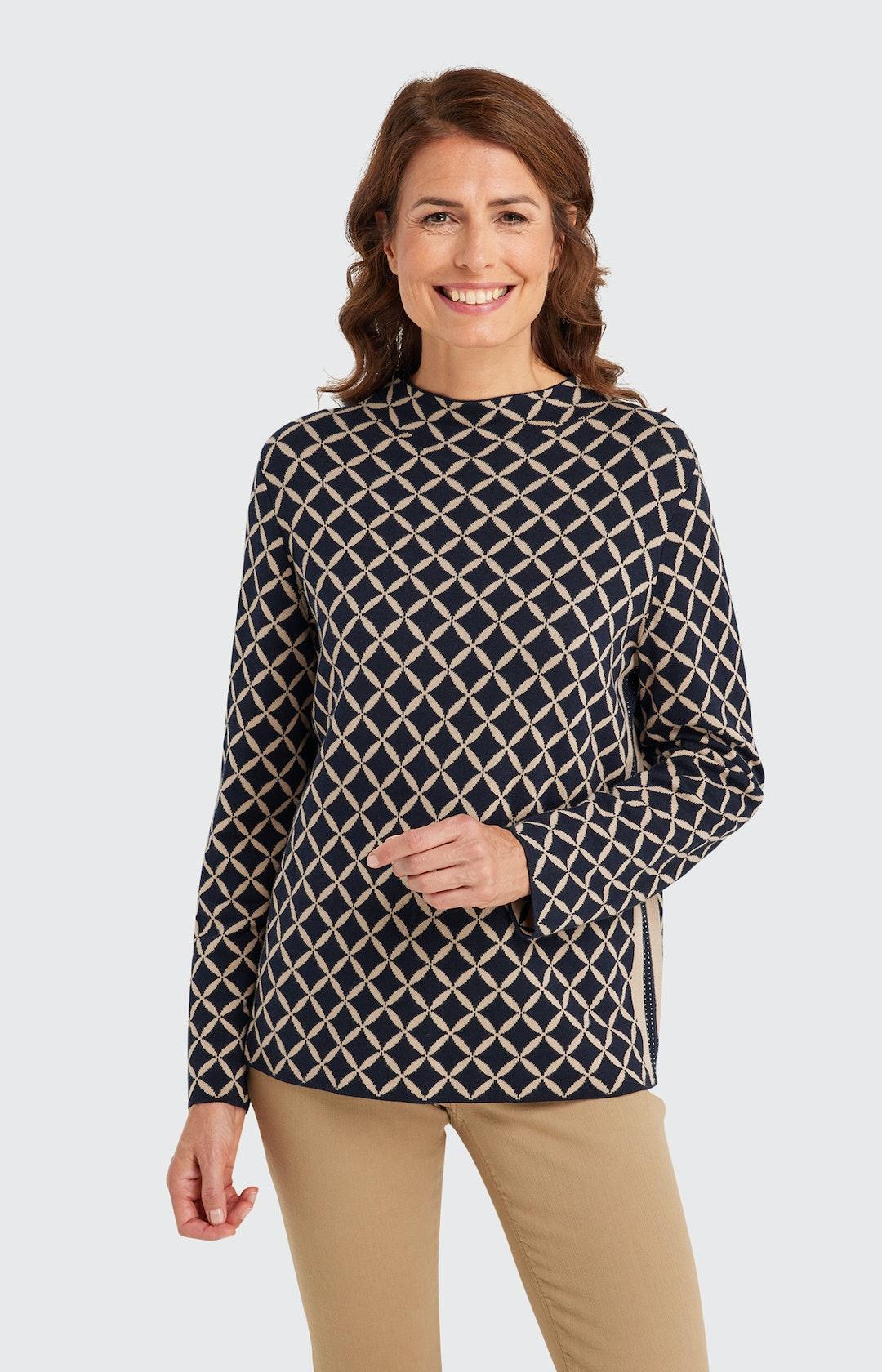 Pullover mit Strukturmuster in Schwarz