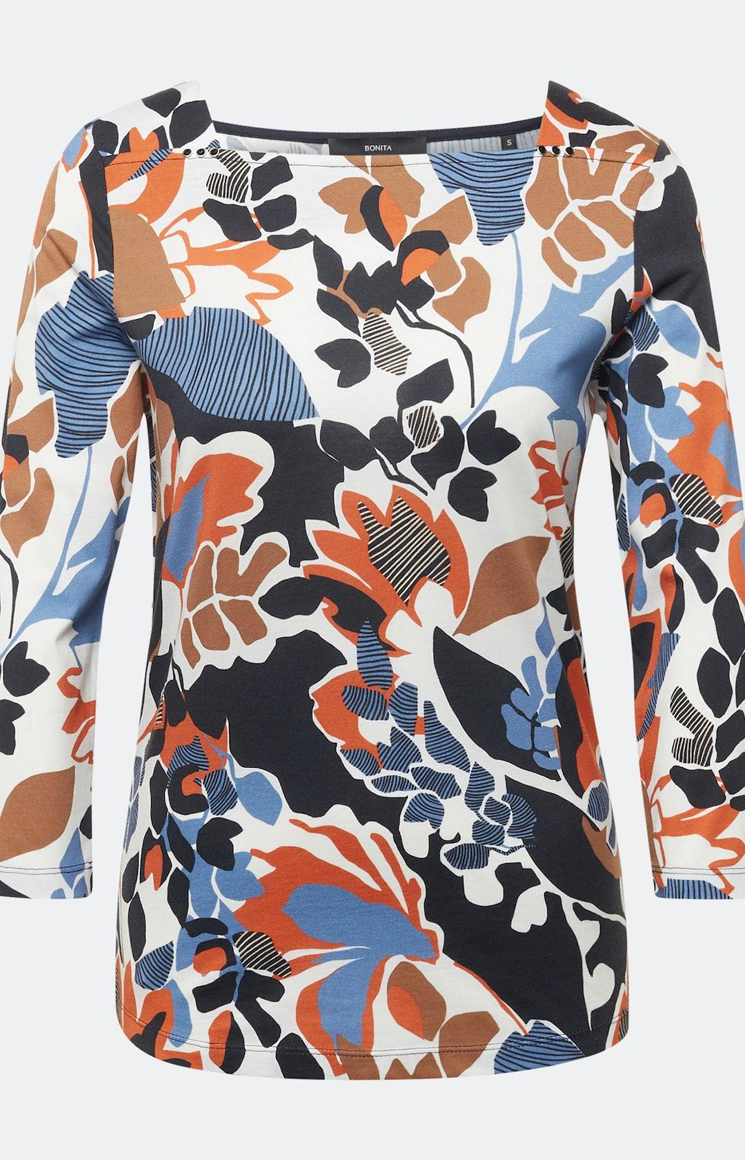 Shirt mit Allover-Muster in Weiß