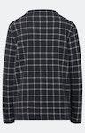 Sweatshirt mit Karomuster in Dunkelblau