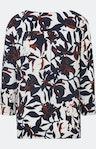 Shirtbluse mit floralem Print in Weiß
