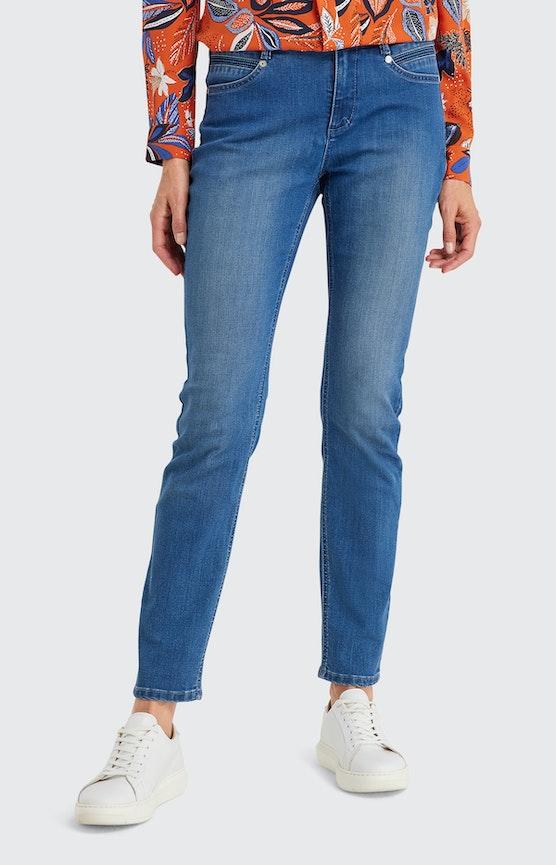 Slim Fit Jeans in Mittelblau