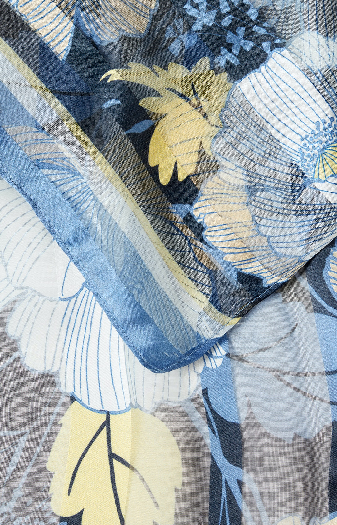 Schal mit Allover-Muster in Dunkelblau