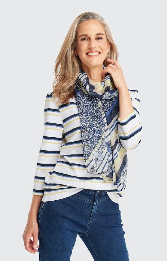 Schal mit Allover-Muster in Blau