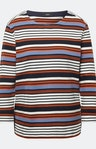 Shirt mit Streifenmuster in Weiß