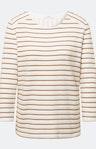 Sweatshirt mit Streifenmuster in Weiß