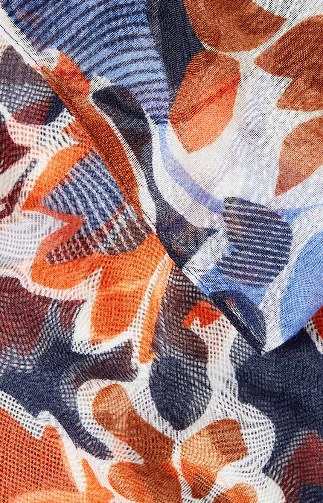 Loop Schal mit Allover-Muster in Blau
