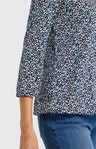 Shirtbluse mit Allover-Muster